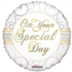 "ON YOUR SPECIAL DAY BALLOON  18""  15086-18"